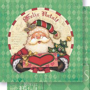 Papel-Scrapbook-Natal-Papai-Noel-e-Losangos-SDN-062---Litoarte