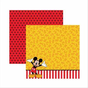 Papel-Scrapbook-Disney-Mickey-Mouse-Barrado-SDFD018---Toke-e-Crie
