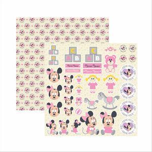 Papel-Scrapbook-Disney-Baby-Minnie-Recortes-SDFD029---Toke-e-Crie