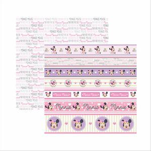 Papel-Scrapbook-Disney-Baby-Minnie-Faixas-SDFD030---Toke-e-Crie