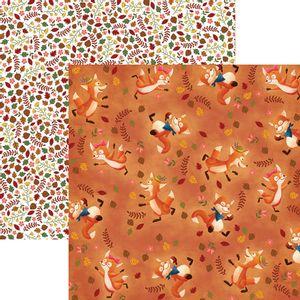 Papel-Scrapbook-Dupla-Face-Raposas-do-Outono-Divertidas-SDF684---Toke-e-Crie