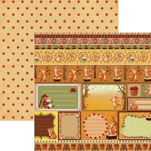Papel-Scrapbook-Dupla-Face-Raposas-do-Outono-Tags-e-Barrinhas-SDF686---Toke-e-Crie