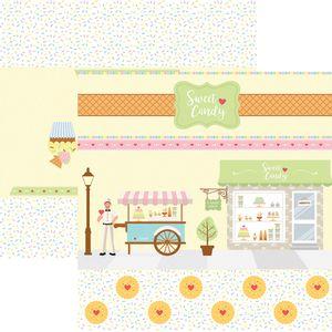 Papel-Scrapbook-Dupla-Face-Sweet-Candy-Cenario-e-Bandeirolas-SDF658---Toke-e-Crie-By-Mariceli