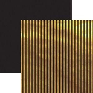 Papel-Scrapbook-Listras-Dourado-e-Preto-SDF617---Toke-e-Crie