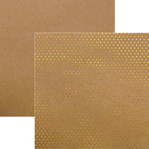 Papel-Scrapbook-Poa-Dourado-e-Kraft-SDF610---Toke-e-Crie
