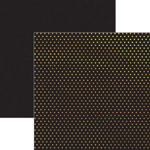 Papel-Scrapbook-Poa-Dourado-e-Preto-SDF618---Toke-e-Crie