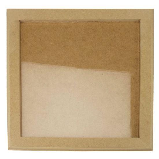 Quadro Moldura com Vidro em MDF 30,5x30,5x1cm - MDF