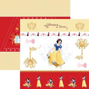 Papel-ScrapFesta-Disney-Princesa-Branca-de-Neve-Cenario-e-Bandeirolas-SDFD076---Toke-e-Crie