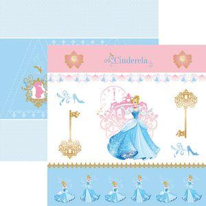 Papel-ScrapFesta-Disney-Princesa-Cinderela-Cenario-e-Bandeirolas-SDFD070---Toke-e-Crie