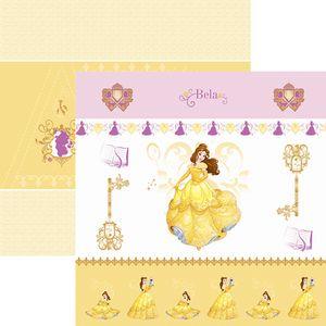 Papel-ScrapFesta-Disney-Princesa-Bela-Cenario-e-Bandeirolas-SDFD064---Toke-e-Crie
