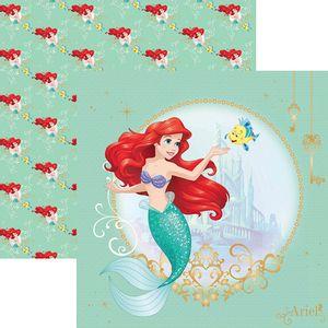 Papel-ScrapFesta-Disney-Princesa-Ariel-Guirlanda-SDFD081---Toke-e-Crie