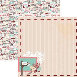 Papel-Scrapbook-O-Amor-Esta-no-Ar-Moldura-SDF698---Toke-e-Crie-By-Flavia-Terzi