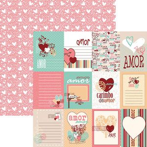 Papel-Scrapbook-O-Amor-Esta-no-Ar-Cartoes-SDF701---Toke-e-Crie-By-Flavia-Terzi