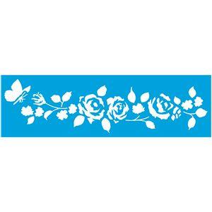 Stencil-Epoca-Ramo-de-Rosas-84x285-STE300---Litoarte