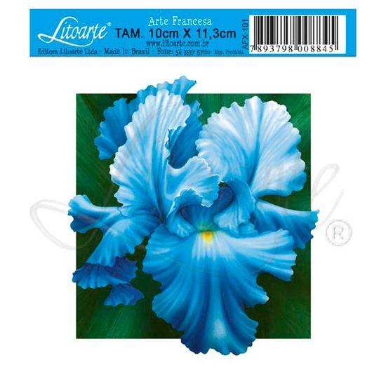 Papel-Decoupage-Arte-Francesa-Orquidea-Azul-AFX-101---Litoarte