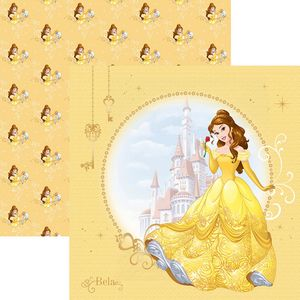 Papel-ScrapFesta-Disney-Princesa-Bela-Guirlanda-SDFD-063---Toke-e-Crie