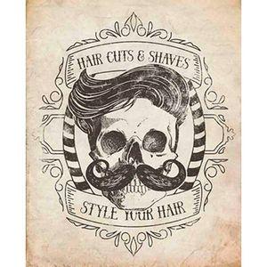 Placa-Decorativa-Barbearia-Hair-Cuts-24x19cm-DHPM-164---Litoarte