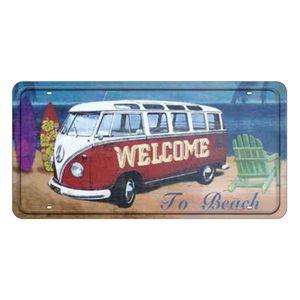 Placa-Decorativa-15x30cm-Welcome-To-Beach-LPD-018---Litocart