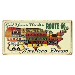 Placa-Decorativa-15x30cm-Get-Your-Kicks-Route-66-LPD-029---Litocart