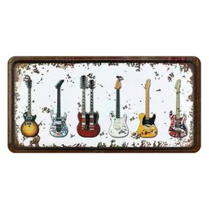 Placa-Decorativa-15x30cm-Guitarras-LPD-034---Litocart