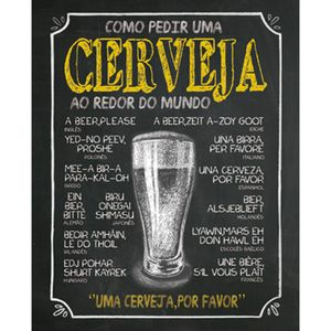 Placa-Decorativa-245X195cm-Como-Pedir-uma-Cerveja-LPMC-020---Litocart
