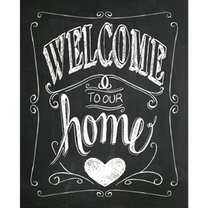 Placa-Decorativa-245X195cm-Welcome-To-Our-Home-LPMC-035---Litocart