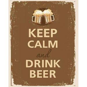 Placa-Decorativa-245X195cm-Keep-Calm-And-Drink-Beer-LPMC-048---Litocart