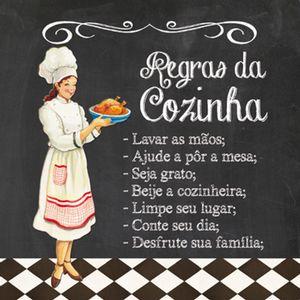 Placa-Decorativa-25x25cm-Regras-da-Cozinha-LPQC-020---Litocart