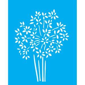 Stencil-para-Pintura-25X20cm-Margaridas-LSG-062---Litocart