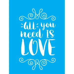 Stencil-para-Pintura-20X15cm-All-You-Need-Is-Love-LSM-064---Litocart