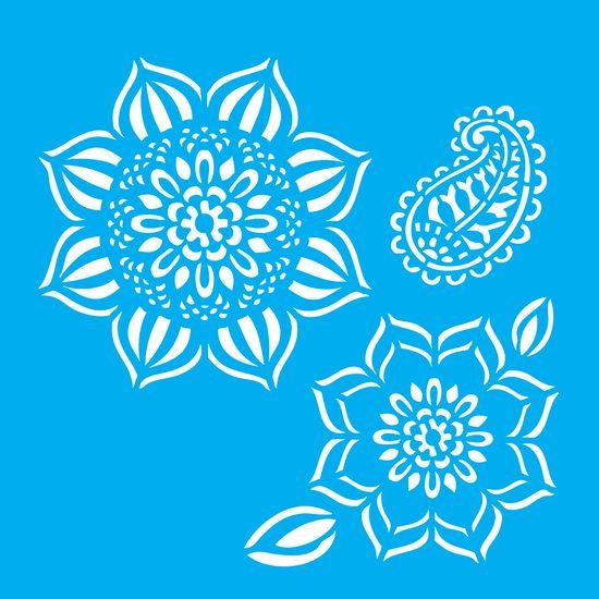 Stencil-para-Pintura-20X20cm-Flores-LSQ-042---Litocart