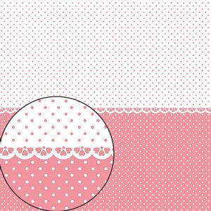 Papel-Scrapbook-Folha-Simples-305x305cm-Poa-Rose-e-Branco-LSC-274---Litocart