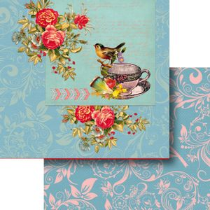 Papel-Scrapbook-Dupla-Face-305x305cm-Flores-e-Passaro-LSCD-380---Litocart