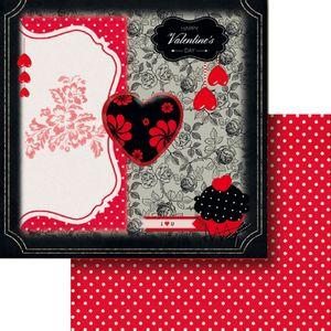 Papel-Scrapbook-Dupla-Face-305x305cm-Happy-Valentine-s-Day-LSCD-388---Litocart
