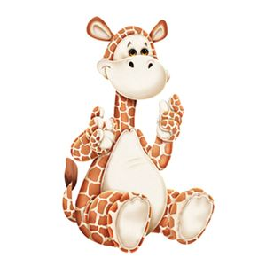 Aplique-Decoupage-7x7cm-Girafinha-LMAM-09---Litocart