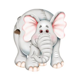 Aplique-Decoupage-7x7cm-Elefante-LMAM-011---Litocart