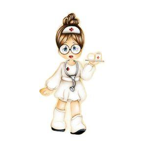 Aplique-Decoupage-7x7cm-Enfermeira-LMAM-030---Litocart