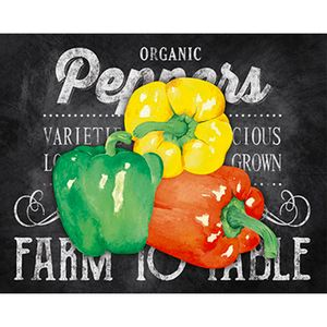 Placa-Decorativa-Organic-Peppers-24x19cm-DHPM-131--Litoarte