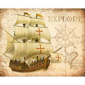 Placa-Decorativa-Navio-Explore-24x19cm-DHPM-161---Litoarte