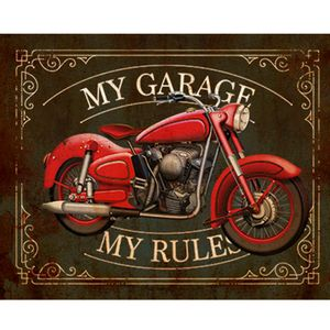 Placa-Decorativa-My-Garage-24x19cm-DHPM-171---Litoarte