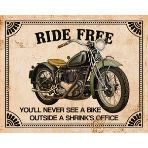 Placa-Decorativa-Moto-Ride-Free-24x19cm-DHPM-172---Litoarte