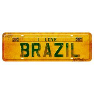 Placa-Decorativa-I-Love-Brazil-40x13cm-DHPM2-070---Litoarte
