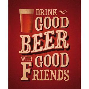 Placa-Decorativa-245X195cm-Drink-Good-Beer-With-Good-friends-LPMC-047---Litocart