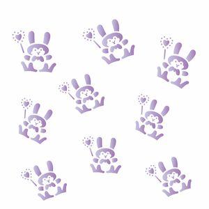 Estencil-para-Pintura-Simples-14x14-Micro-Coelhos-Pascoa-OPA1298---Opa