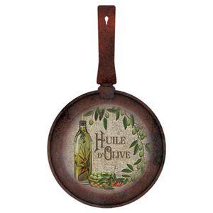 Placa-Decorativa-Frigideira-Pequena-Huile-d--Olive-311X18cm-DHPM5-094---Litoarte