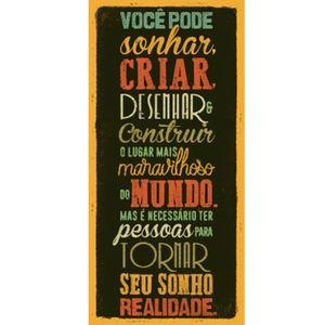 Placa-Decorativa-Voce-pode-Sonhar-40x19cm-DHPM5-158---Litoarte