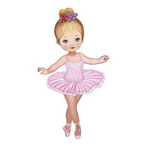 Aplique-Decoupage-8cm-Bailarina-de-Vestido-Rosa-APM8-584---Litoarte
