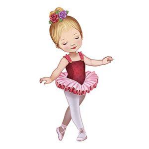 Aplique-Decoupage-8cm-Bailarina-de-Vestido-Vermelho-APM8-583---Litoarte