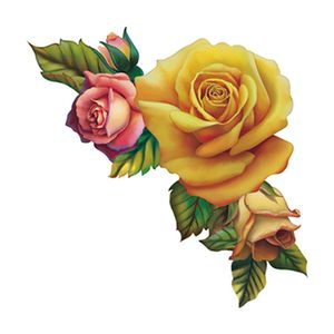 Aplique-Decoupage-8cm-Rosas-Amarelas-e-Rosa-APM8-611---Litoarte