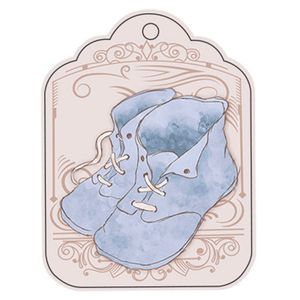 Aplique-Decoupage-8cm-Tag-Sapatinhos-Vintage-Azul-APM8-562---Litoarte